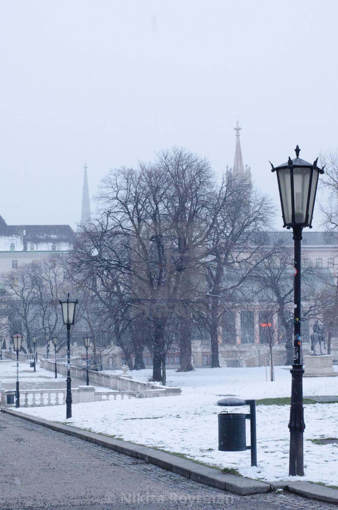 """romantic Vienna in winter"" stock image"