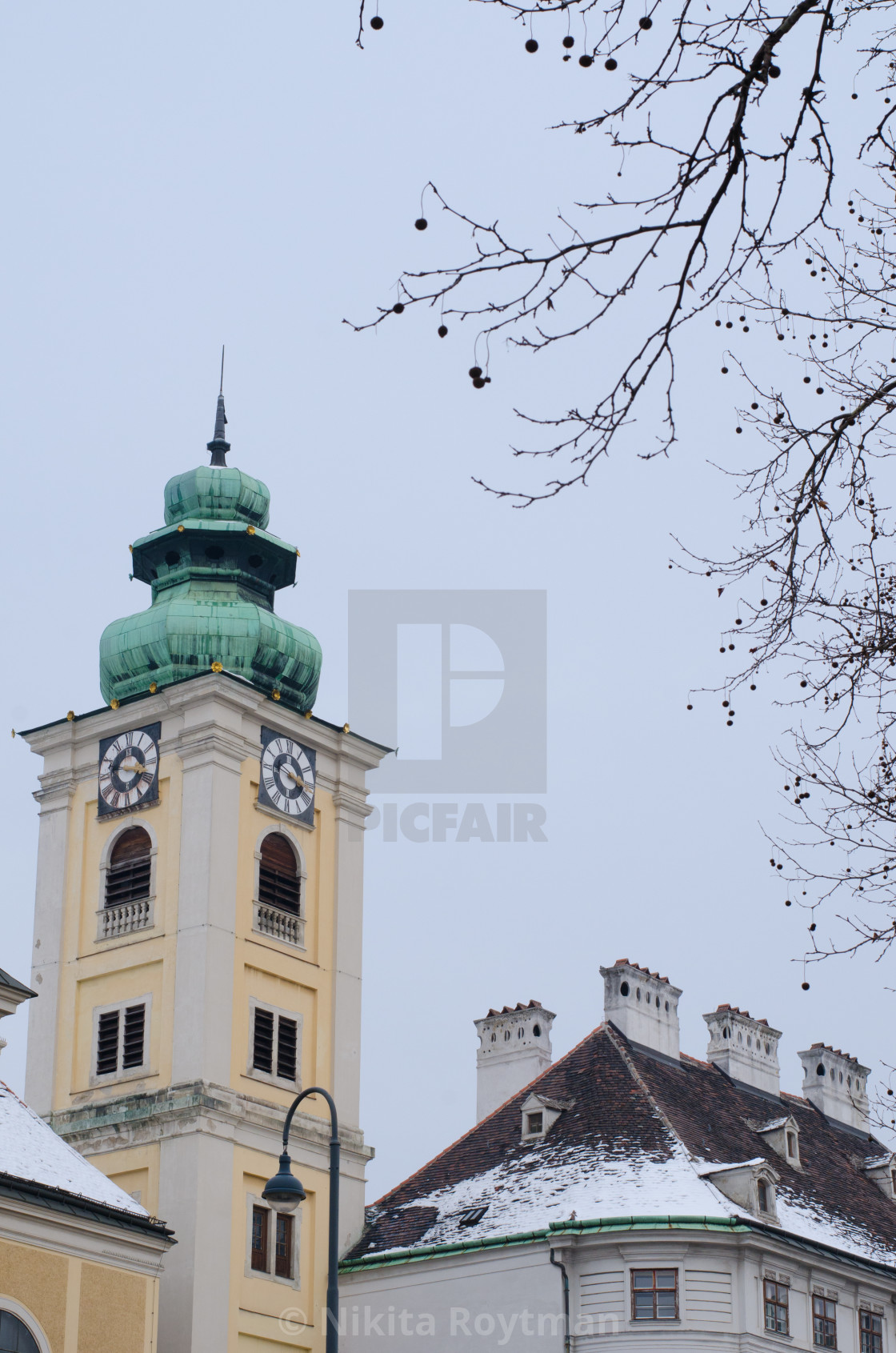"""Corner of old Vienna"" stock image"