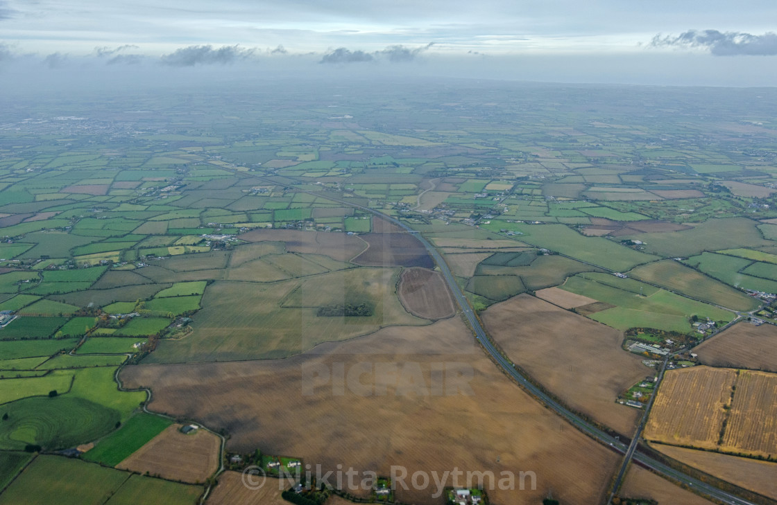 """""""Irish countryside from above"""" stock image"""