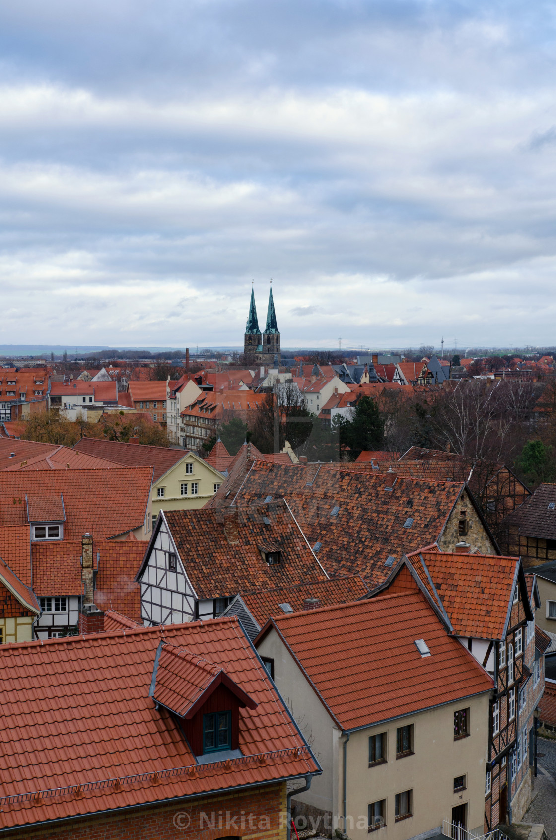 """""""Old Town Of Quedlinburg From Above"""" stock image"""