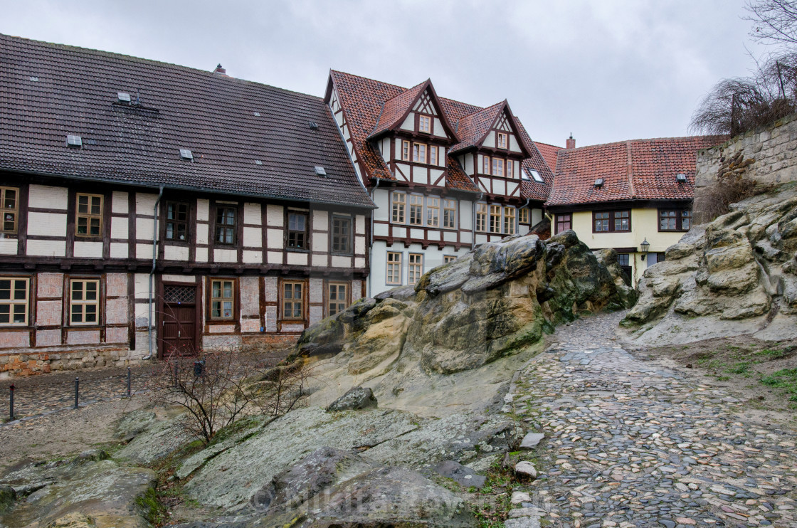 """""""Rocky Medieval Town Of Quedlinburg"""" stock image"""