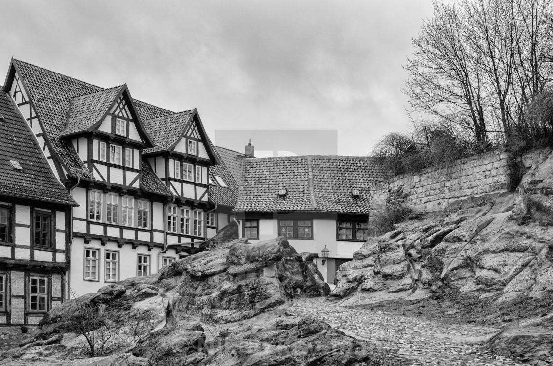 """Medieval Town Of Quedlinburg, Germany"" stock image"