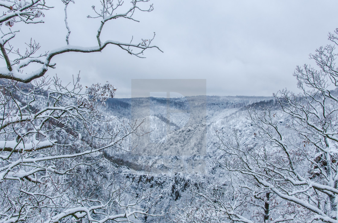 """Picturesque Harz Mountains In Winter"" stock image"