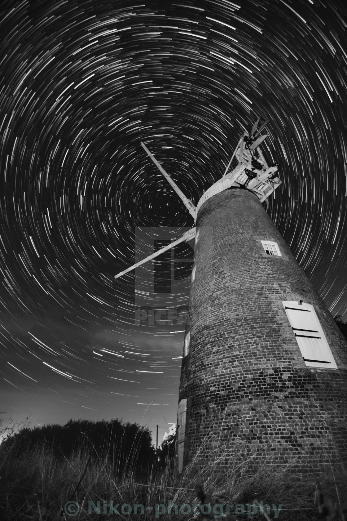 """STARS AROUND MILL"" stock image"