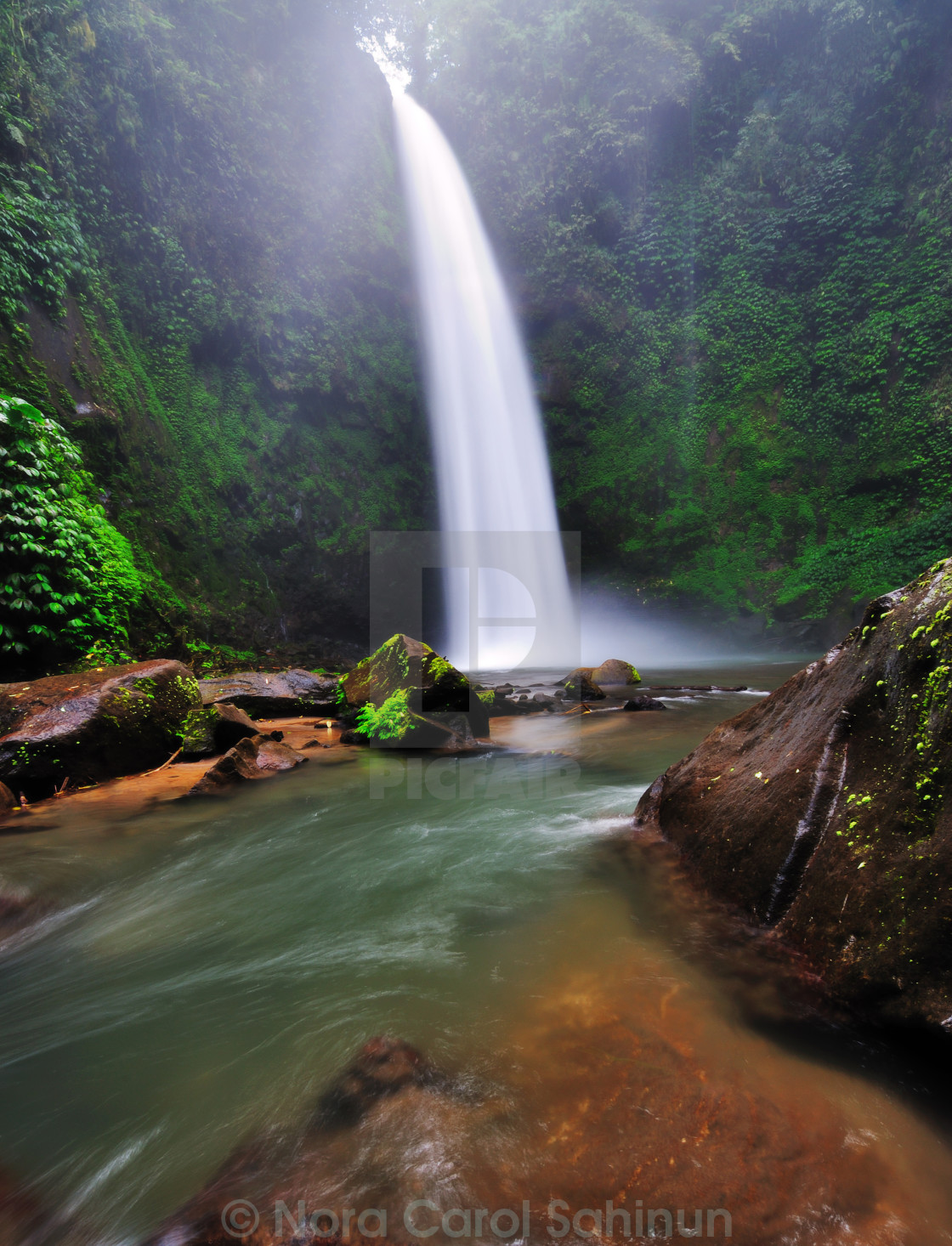 """Waterfall in Bali, Indonesia"" stock image"