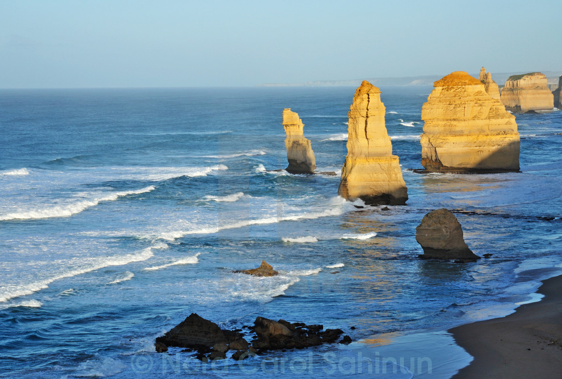 """Twelve apostles in the early morning"" stock image"