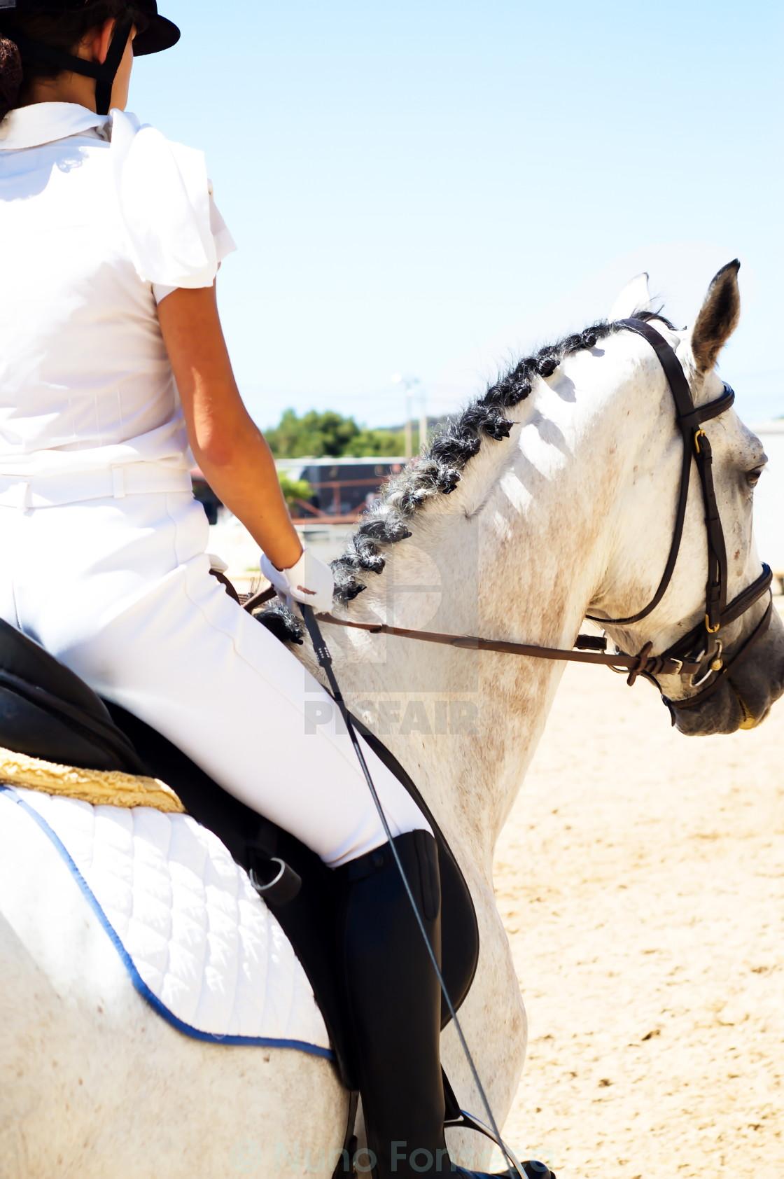 """""""Riding away"""" stock image"""
