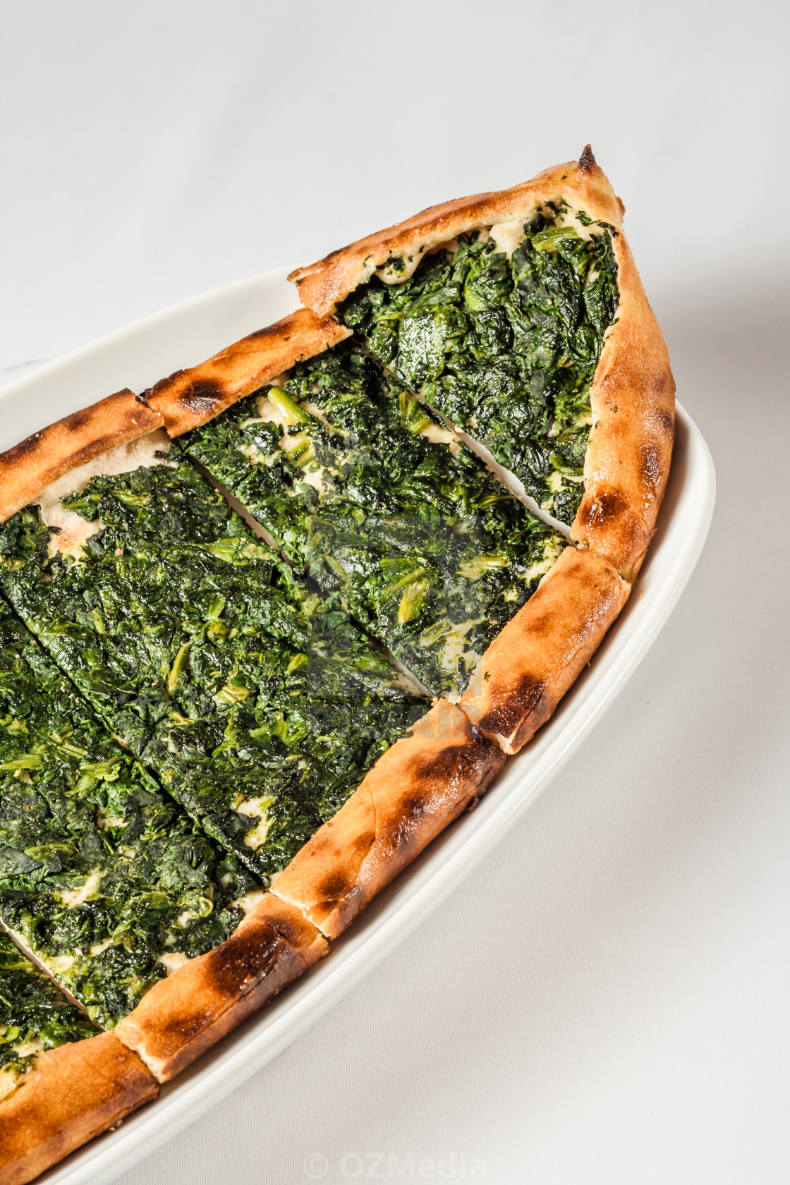 Authentic Turkish Pita Bread with Spinach - License, download or
