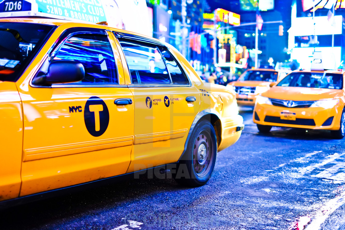 """Taxi NYC"" stock image"