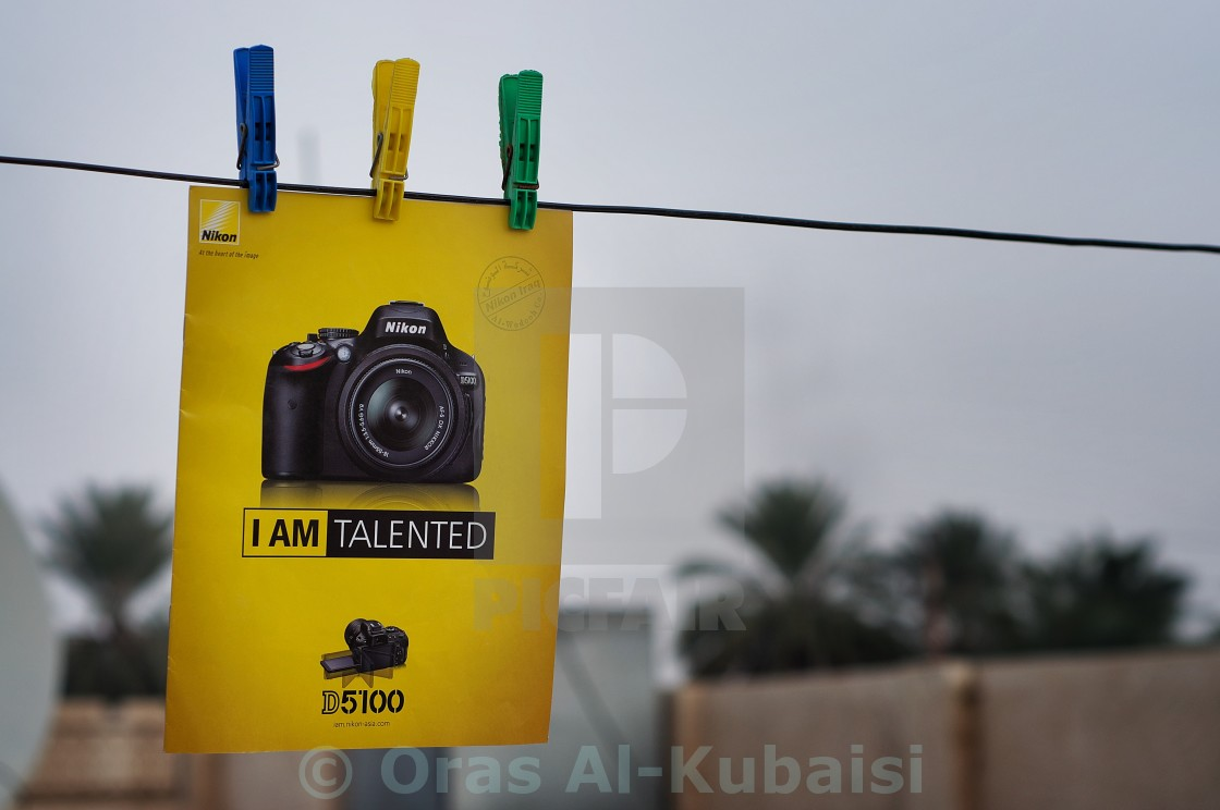 """I am Talented ... I am Nikon!"" stock image"