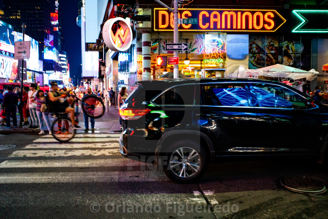 """Dos caminos, one way"" stock image"