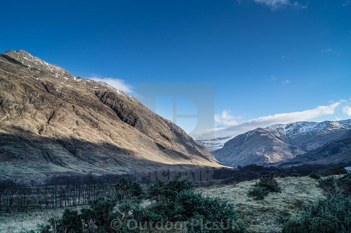 """""""A veiw of Sgurr Fhuaran in the Scottish Highlands"""" stock image"""