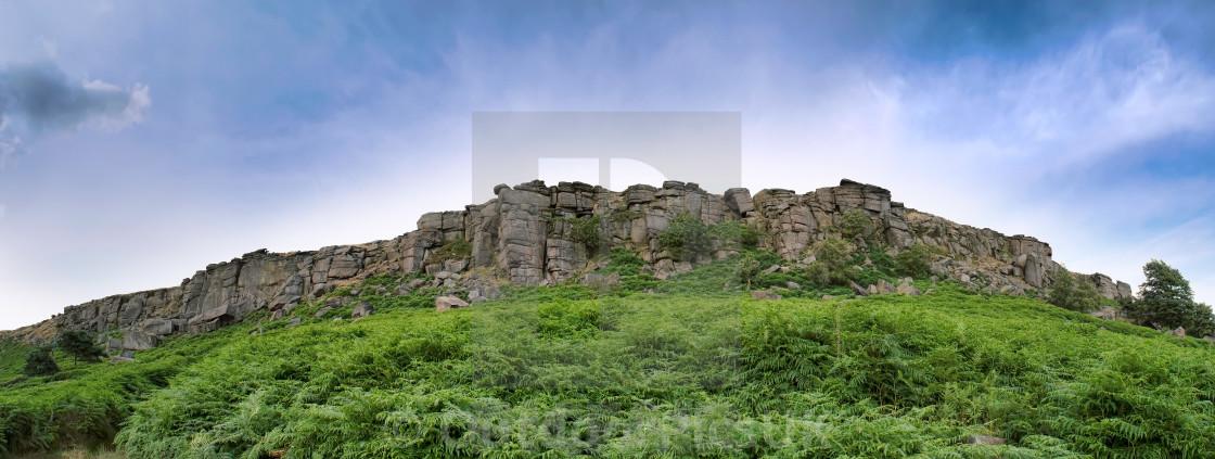 """Stanage Edge, Peak District National Park"" stock image"