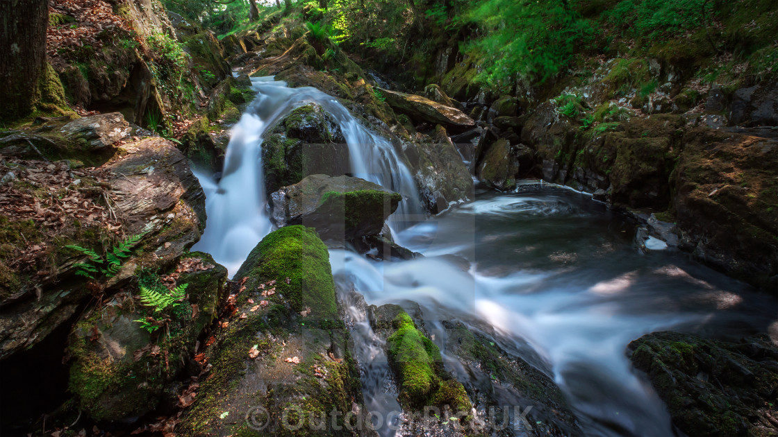 """Small Rocky Falls"" stock image"