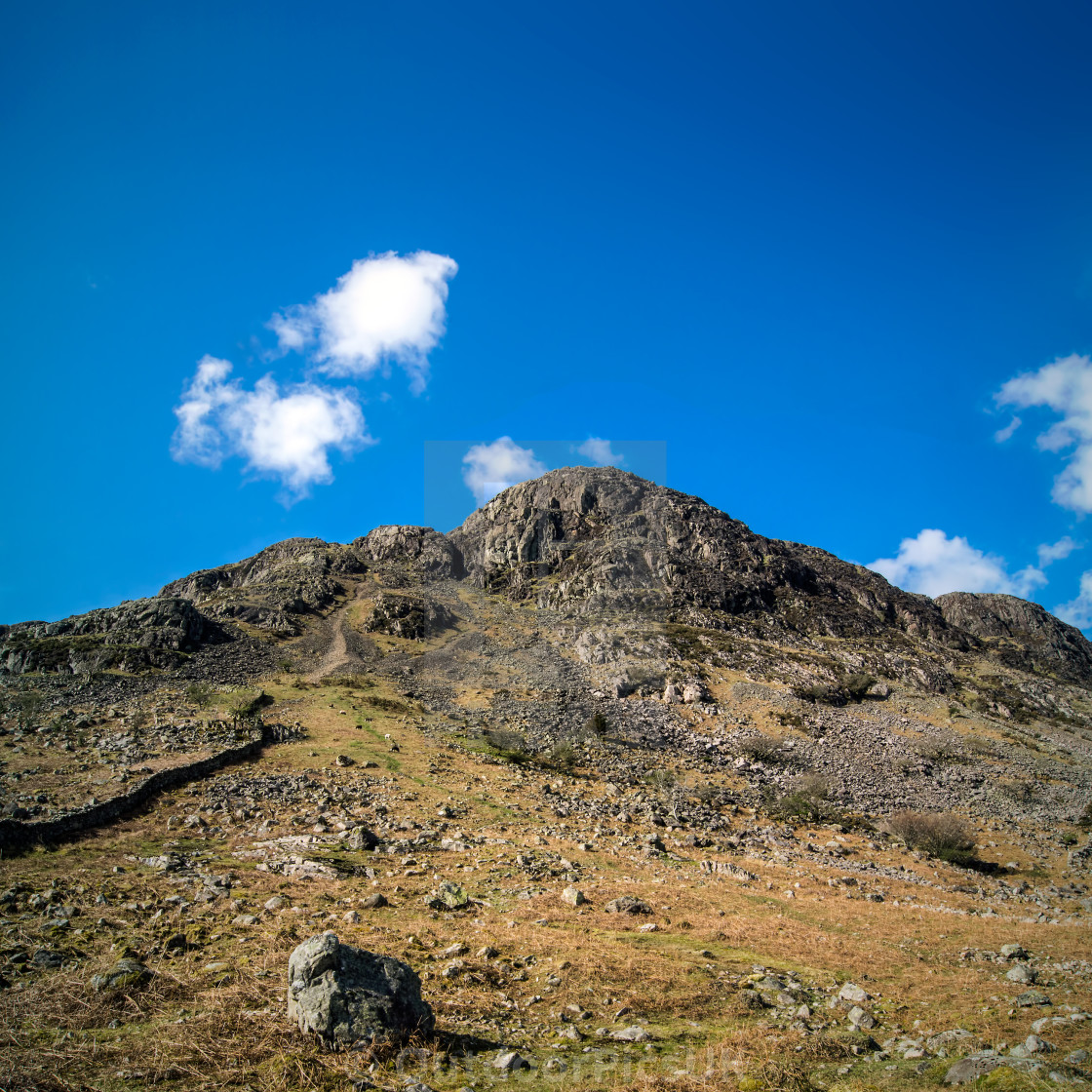 """Buckbarrow Approach, Lake District"" stock image"