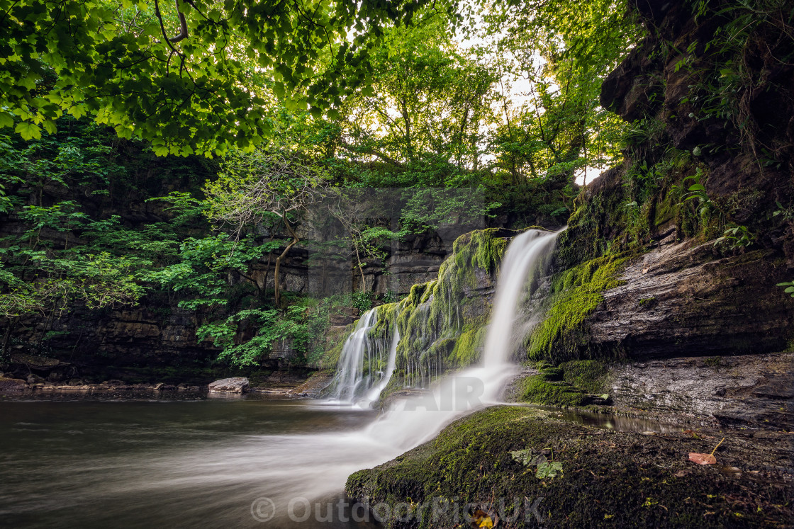"""Cotterdale force Waterfalls"" stock image"