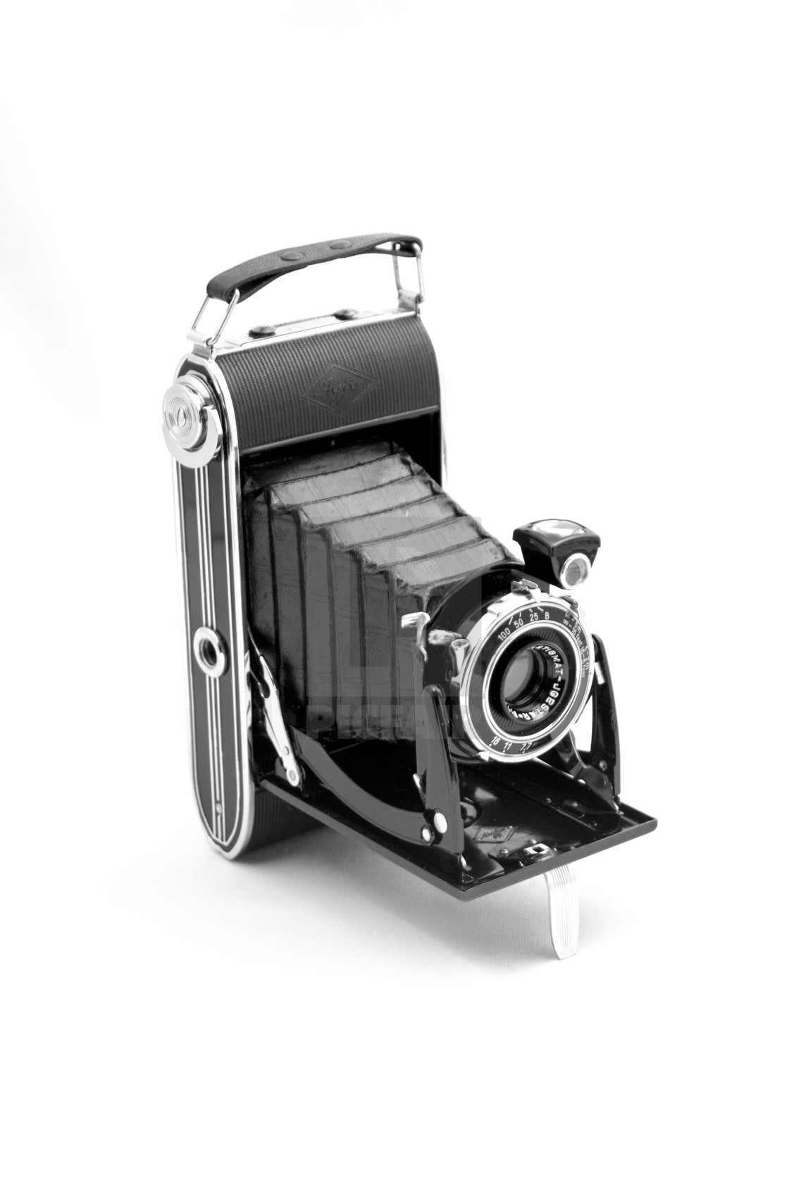 """Old camera on white background"" stock image"