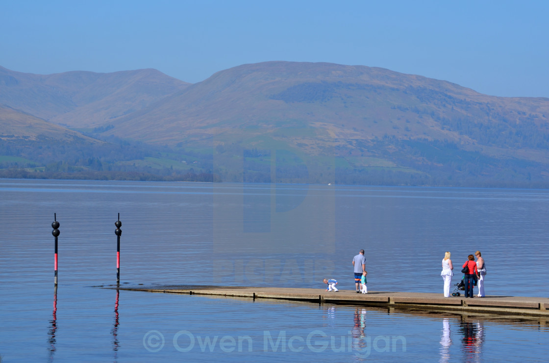 """The slipway at Balloch, Scotland 0072"" stock image"