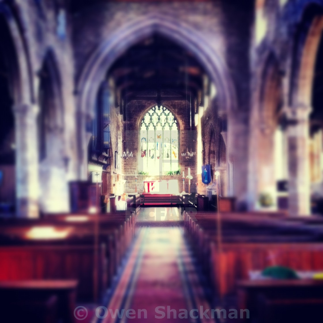"""""""Towcester Cathedral"""" stock image"""