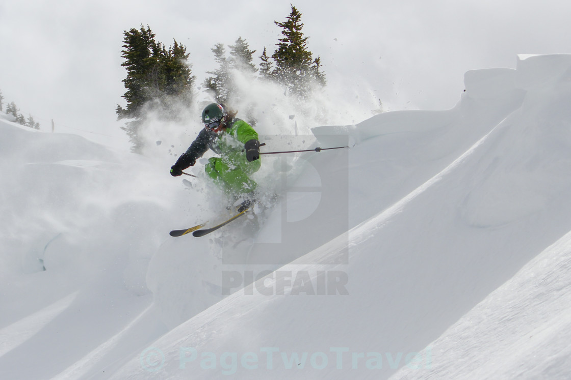 """""""Ski slash"""" stock image"""