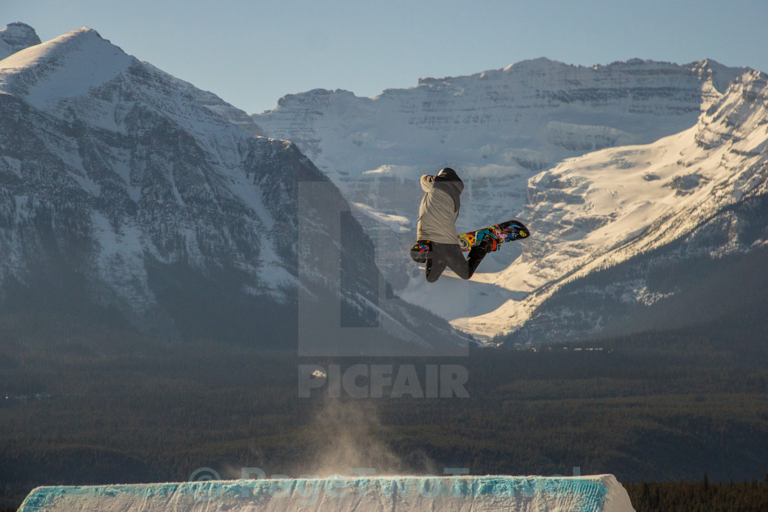 """Snowboard mountains"" stock image"