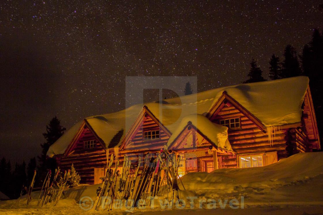 """""""Skoki Lodge night"""" stock image"""