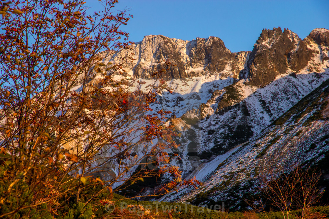 """""""Fall in the mountains"""" stock image"""