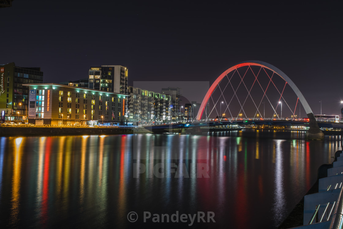 Clyde Arc and River, Glasgow - Scotland