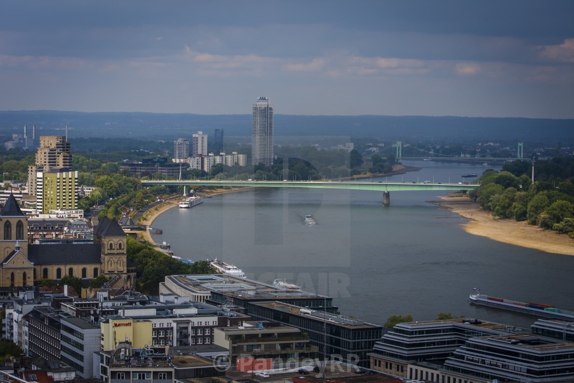 Cologne Cityscape and River Rhine, Cologne - Germany