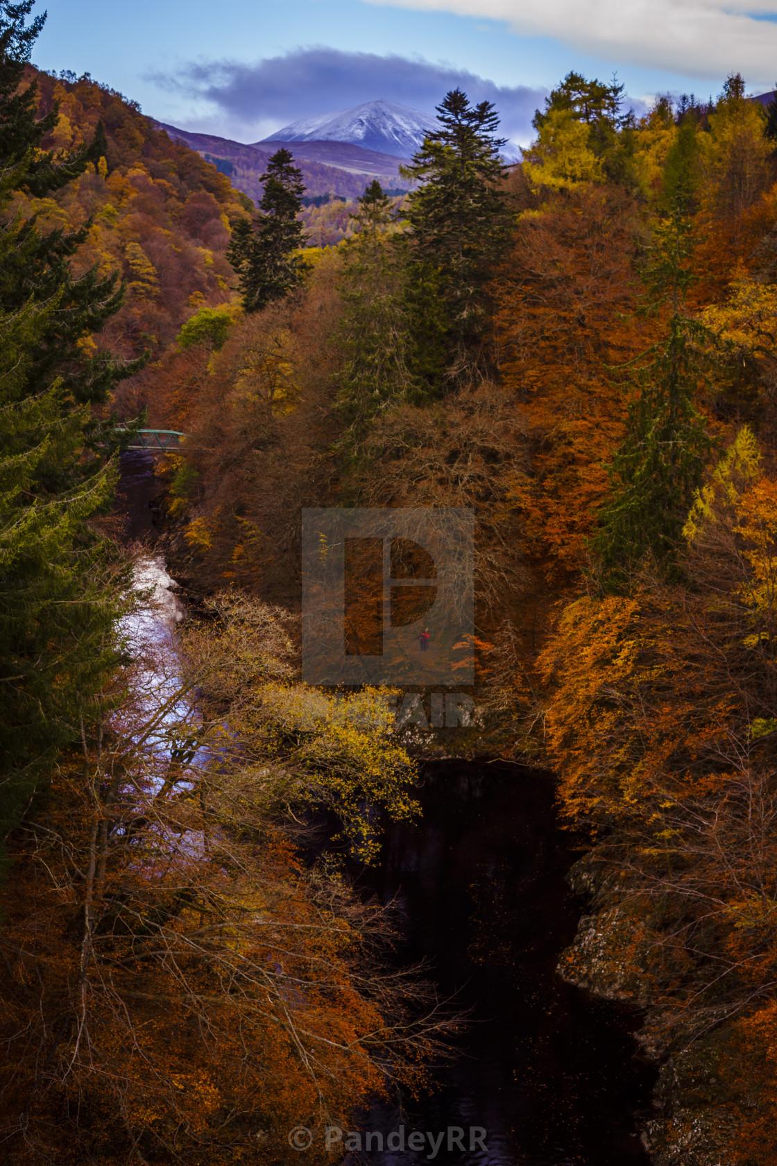 Autumn colours at Pass of Killiecrankie - Scotland