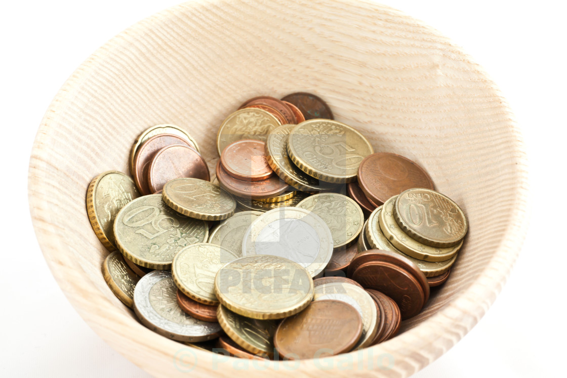 """""""A cup of savings"""" stock image"""