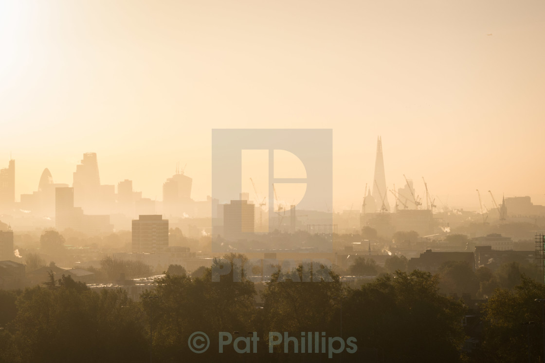 """Misty Morning, London"" stock image"