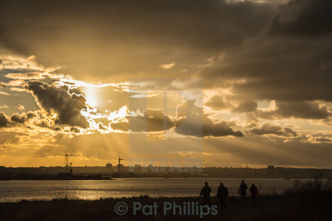 """End of day, Rainham Marshes"" stock image"