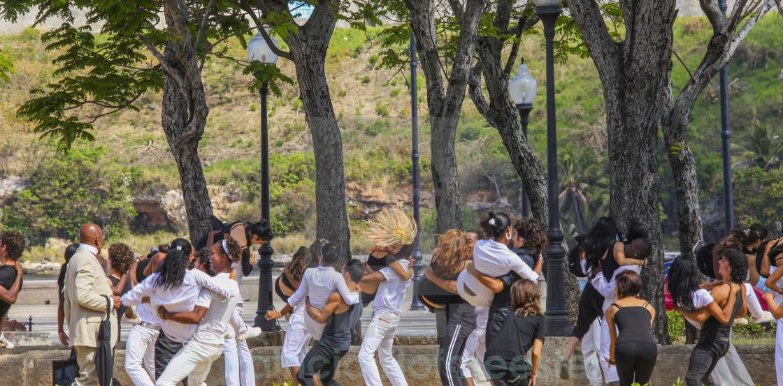 """""""Dancing in Cuba"""" stock image"""