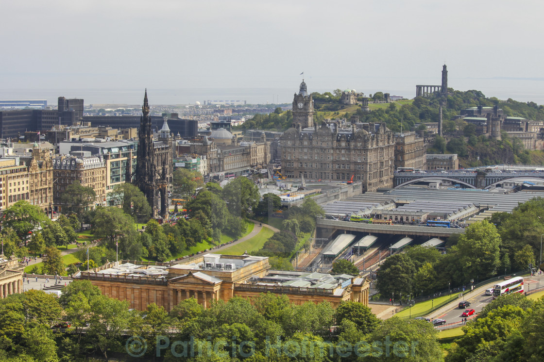 """View on Edinburgh's Waverly railway station"" stock image"