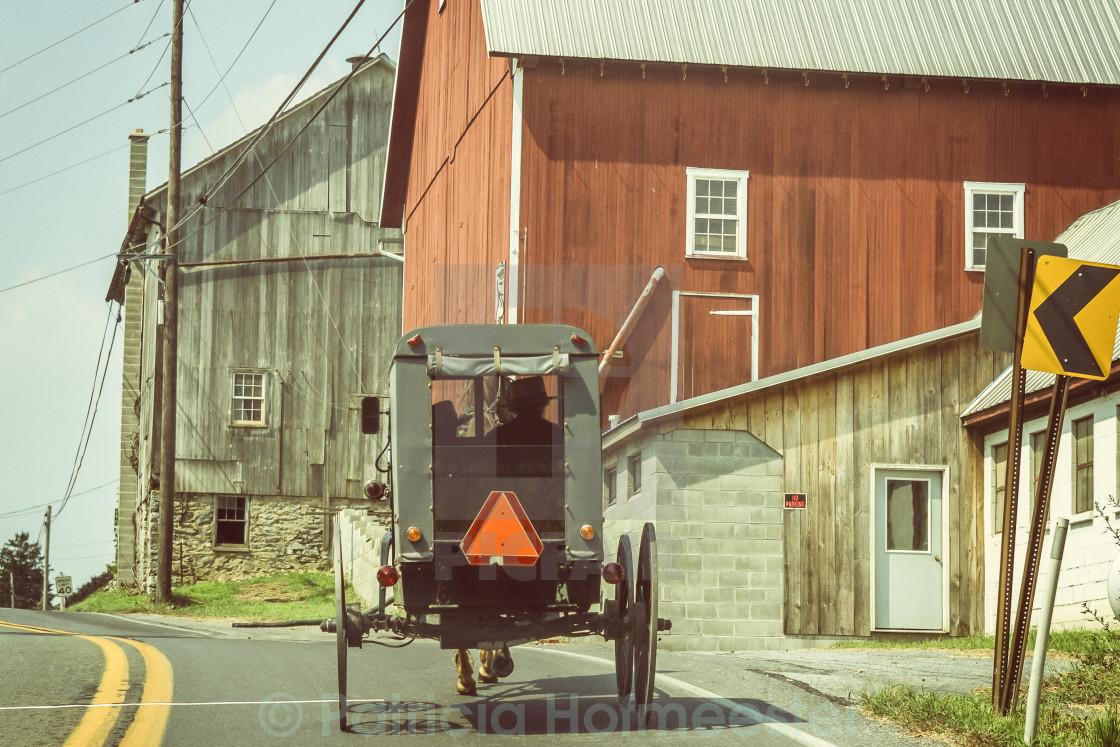 """Amish transport"" stock image"