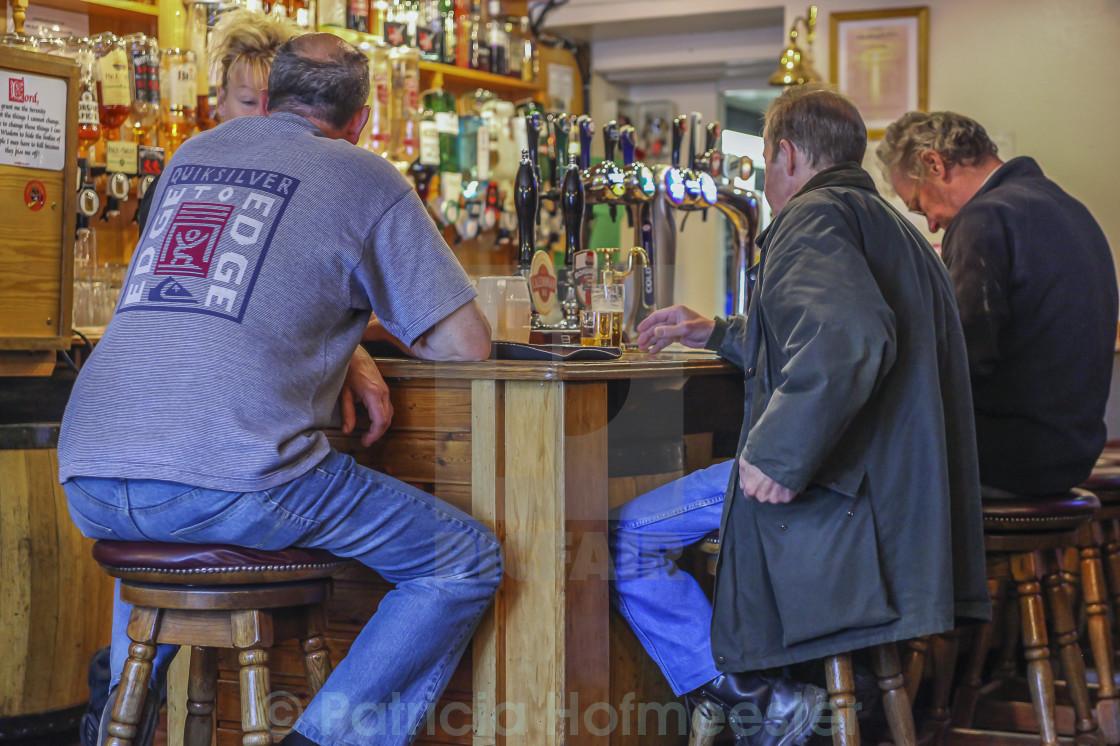 """""""In a local pub"""" stock image"""