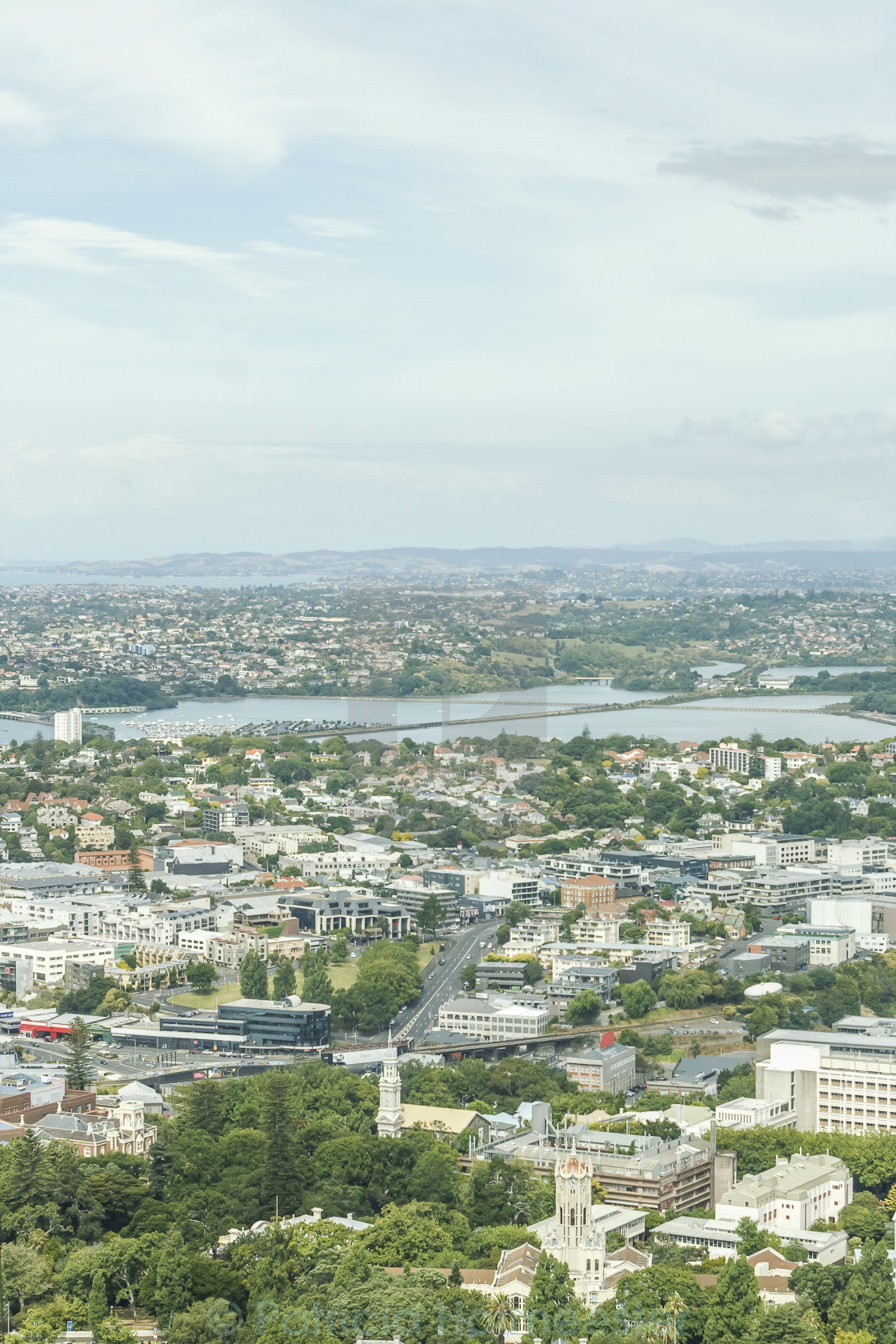 """""""View on Auckland"""" stock image"""