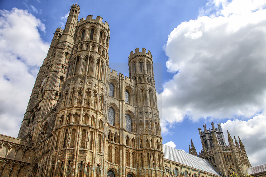 """Cathedral in Ely"" stock image"