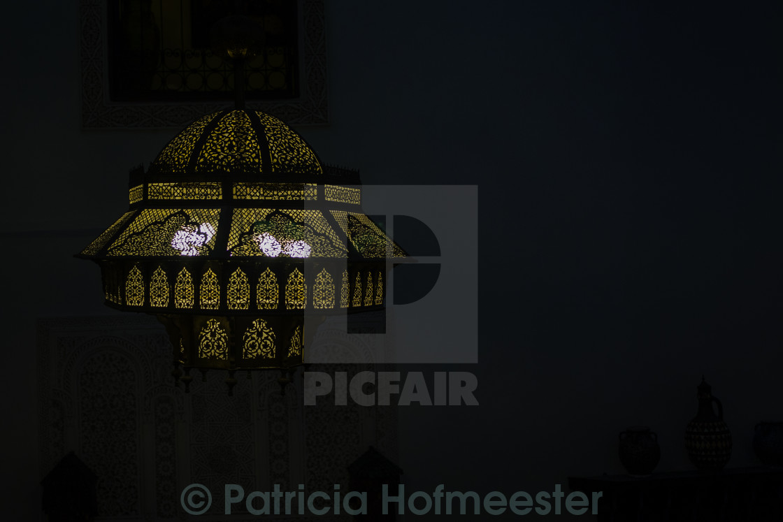 """Moroccan lamp"" stock image"