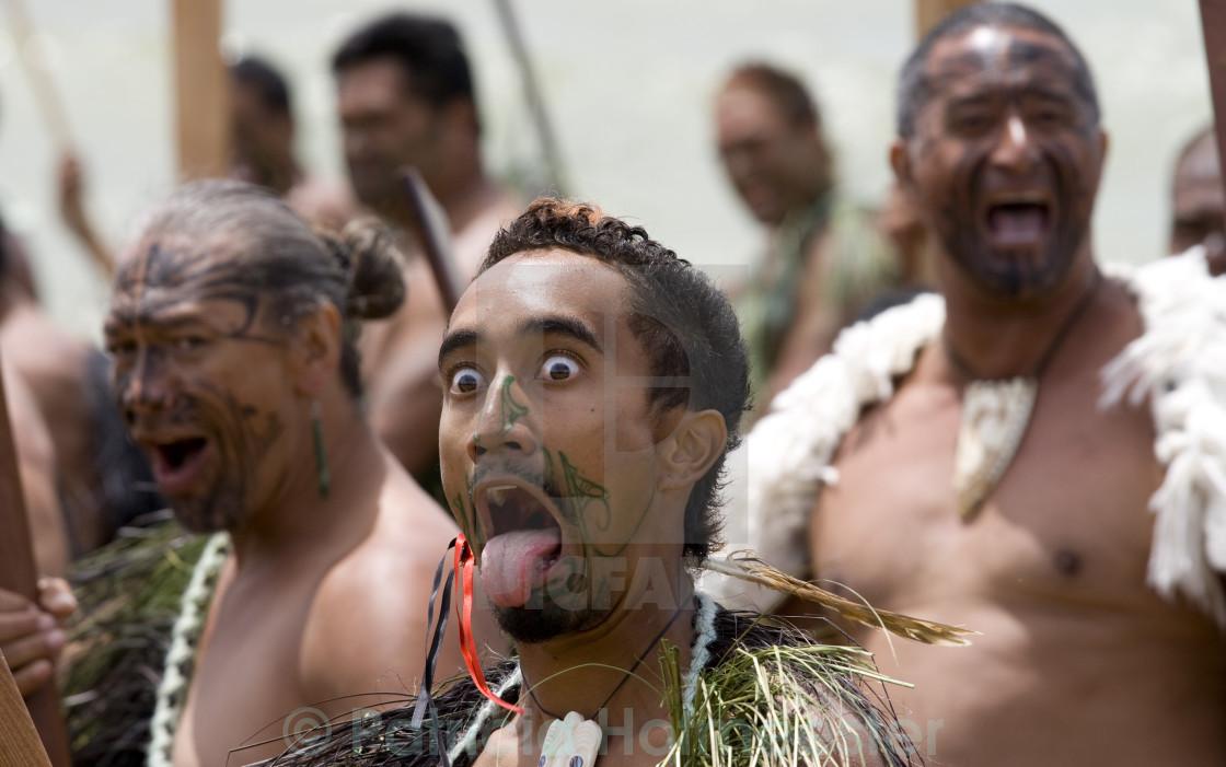 """Maori warrior"" stock image"