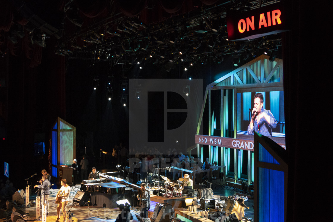 """Inside the Grand ole opry in Nashville"" stock image"