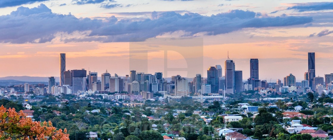 """Brisbane Skyline"" stock image"