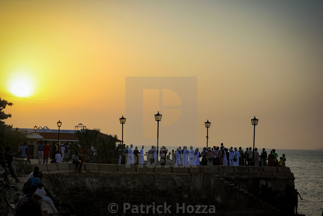 """The Forodhani Sunset"" stock image"