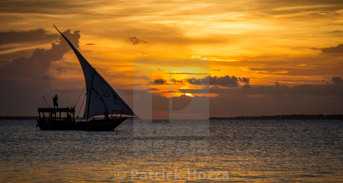 """Zanzibar Sunset Bliss"" stock image"