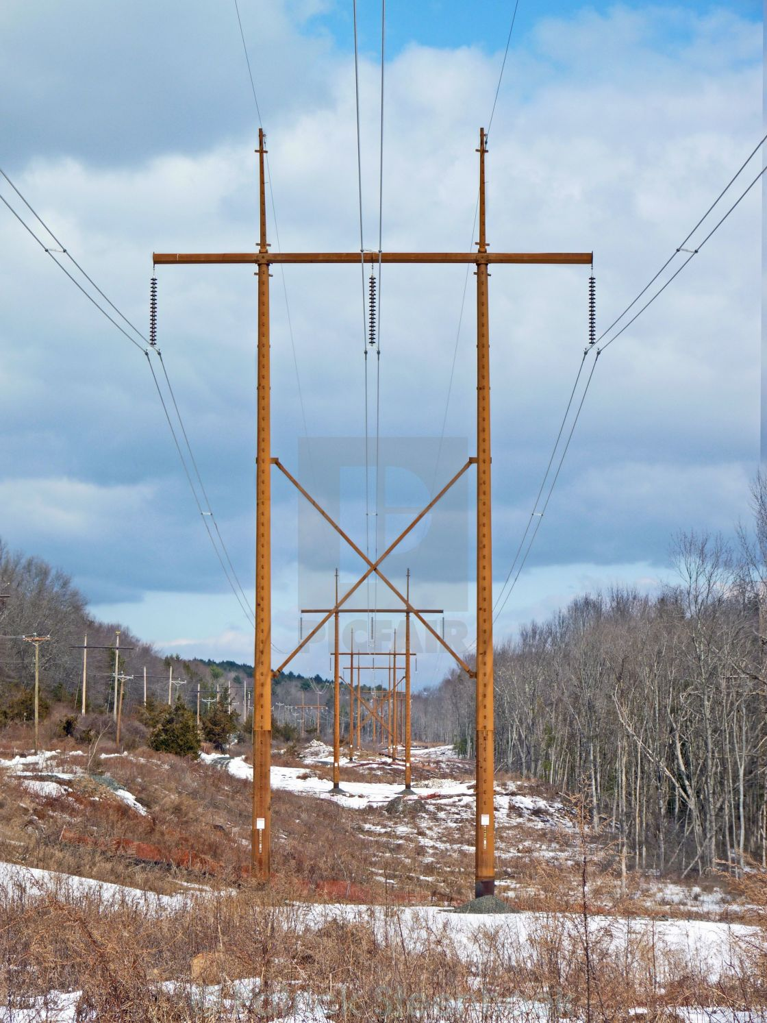 """Powerlines"" stock image"