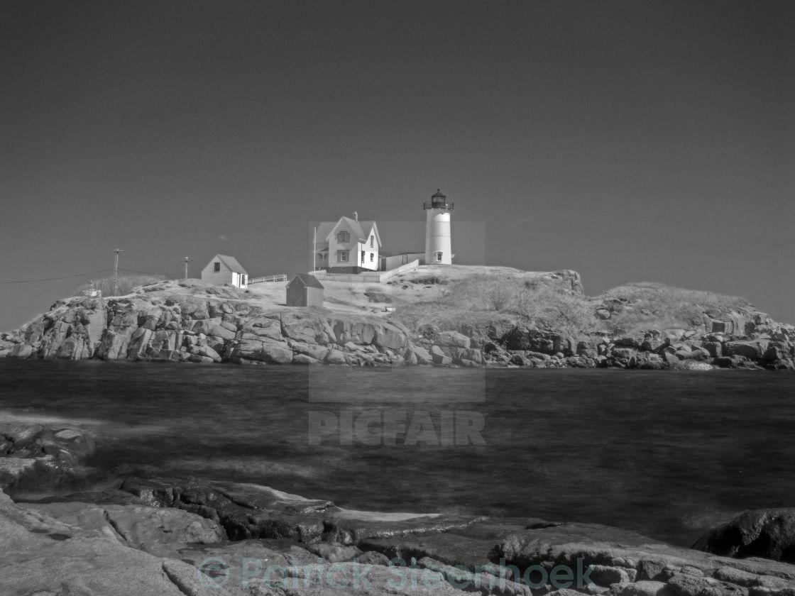 """Nuble Light House - Infra-red"" stock image"