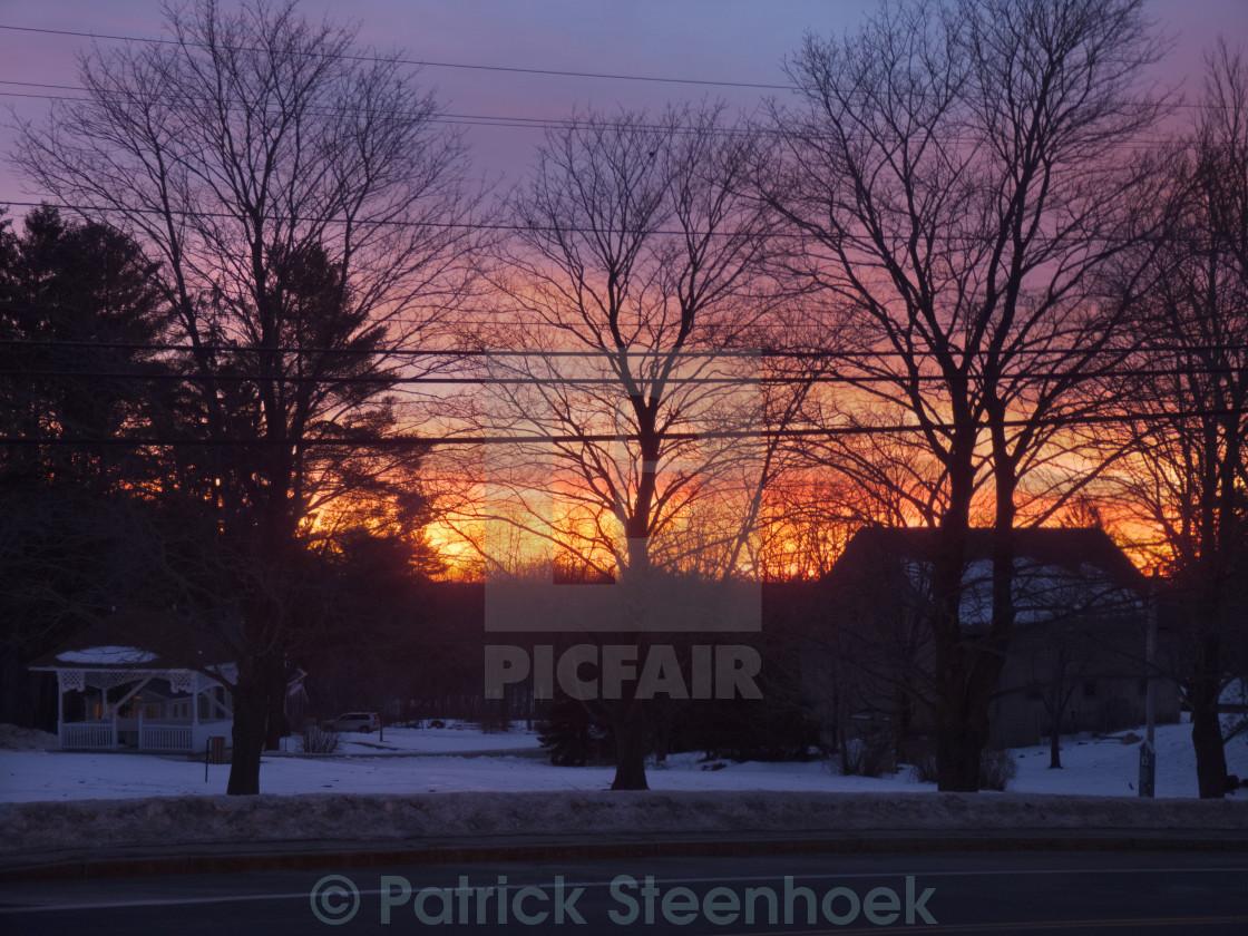 """Sunrise in New Hampshire"" stock image"