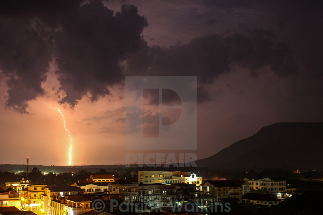"""Lightning Strikes"" stock image"