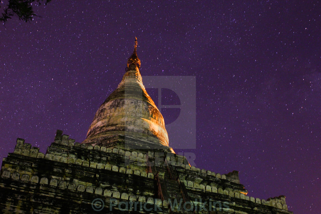 """Temple and stars"" stock image"